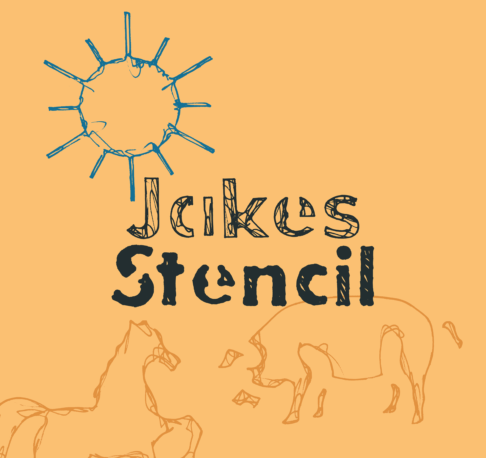 Шрифт Jakes Stencil