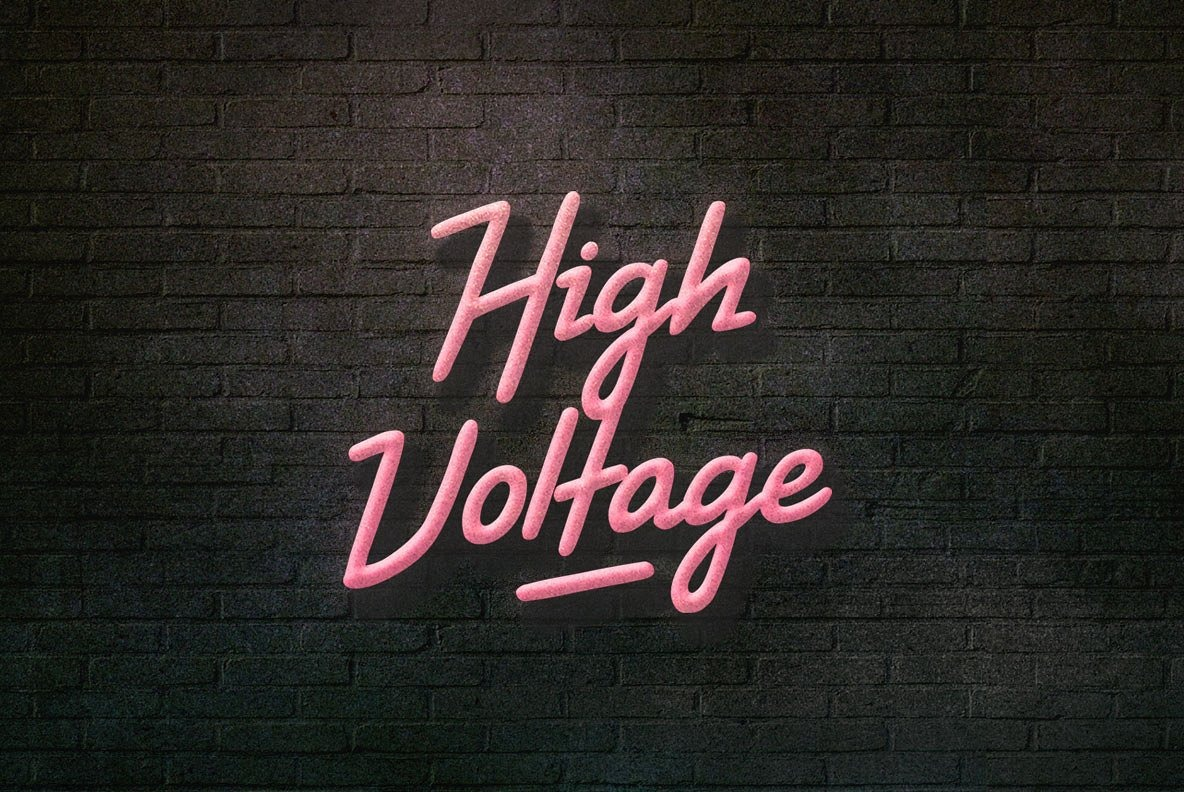 Шрифт High Voltage