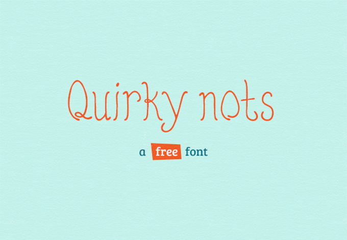 Шрифт Quirky Nots