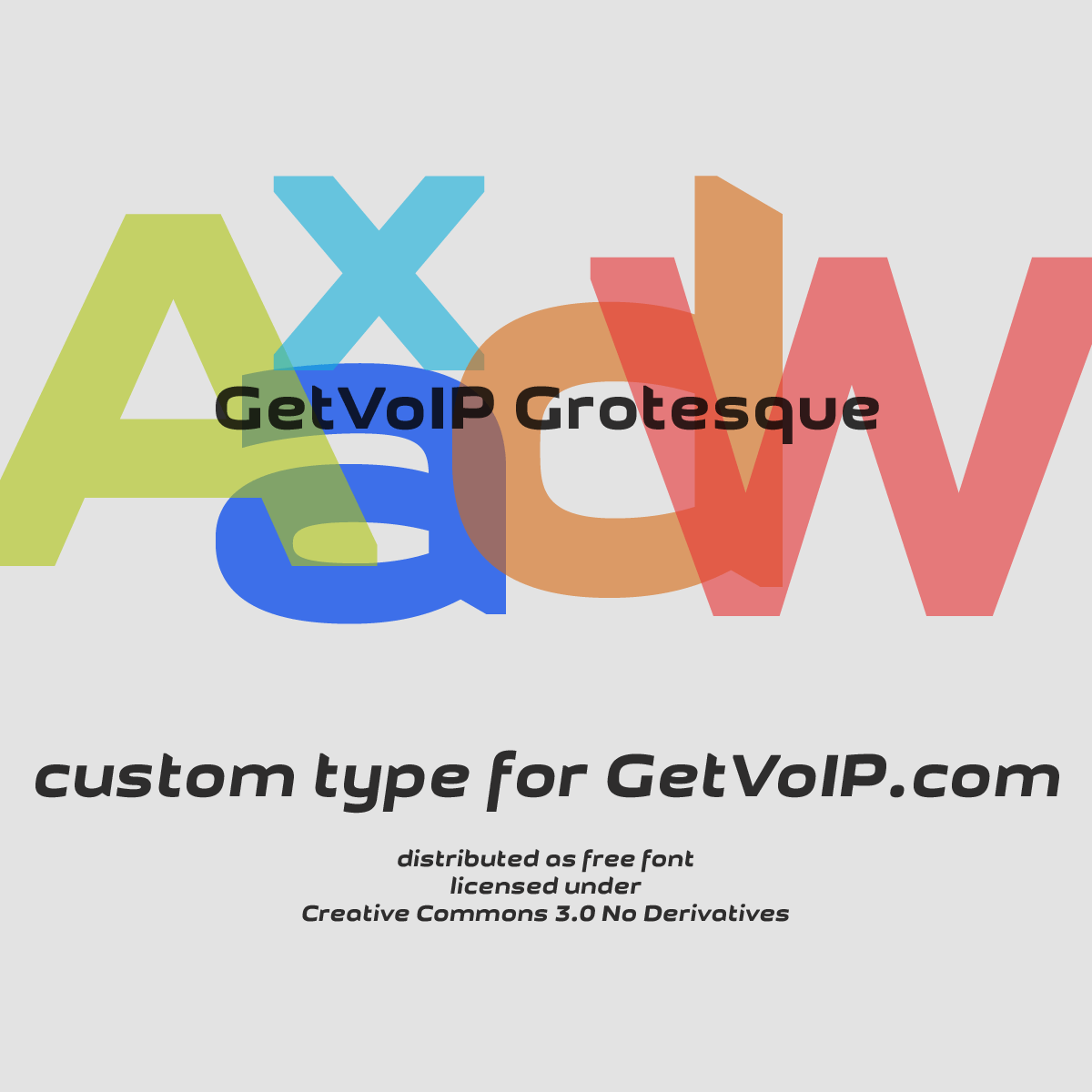 Шрифт GetVoIP Grotesque