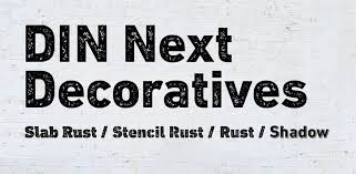 Шрифт DIN Next Decorative