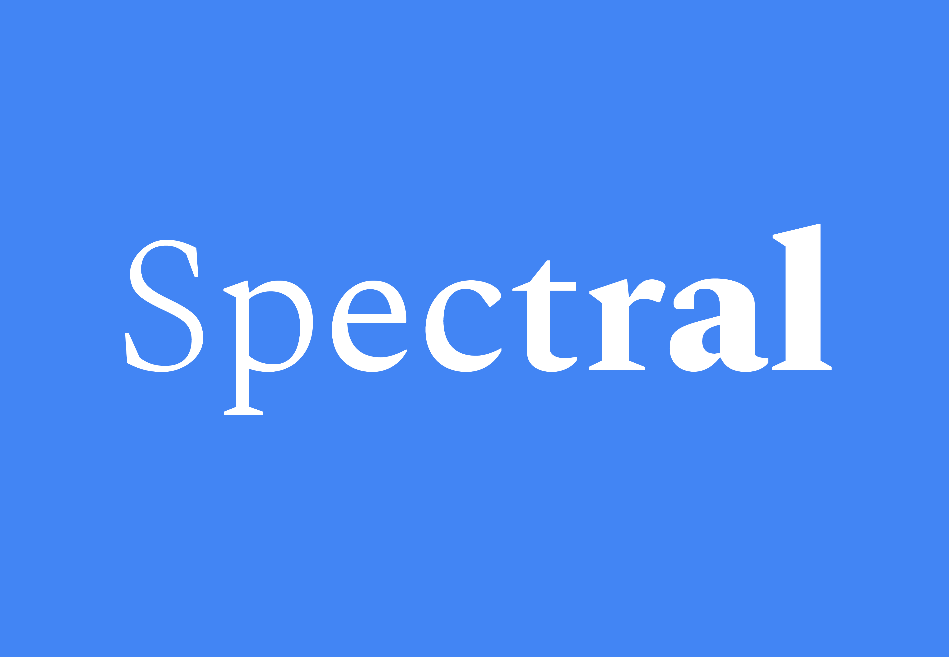Шрифт Spectral