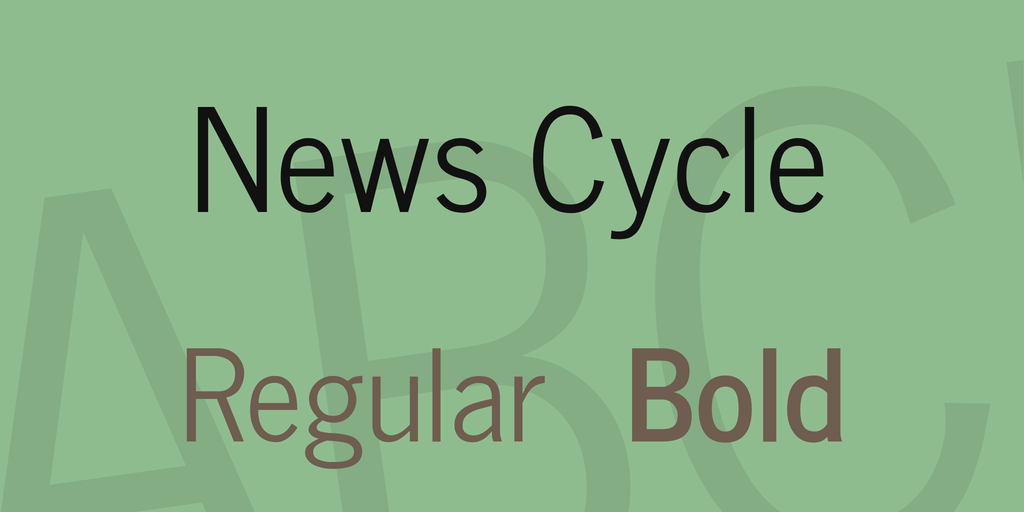 Шрифт News Cycle