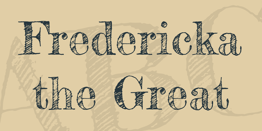 Шрифт Fredericka the Great