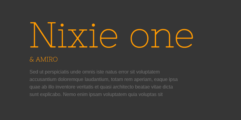 Шрифт Nixie One