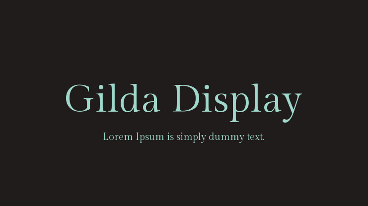 Шрифт Gilda Display