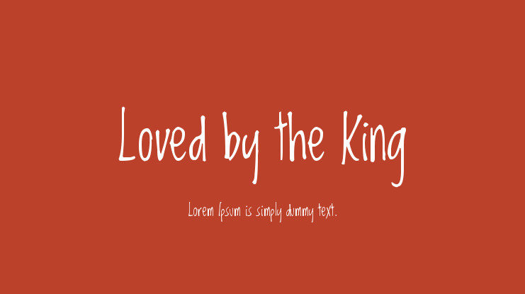 Шрифт Loved by the King