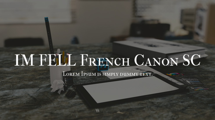 Шрифт IM FELL French Canon SC