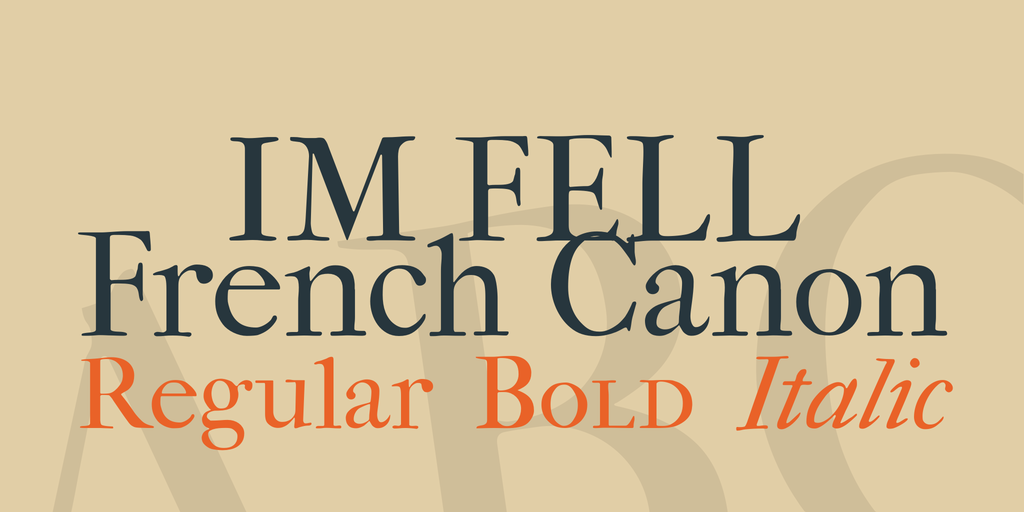 Шрифт IM Fell French Canon