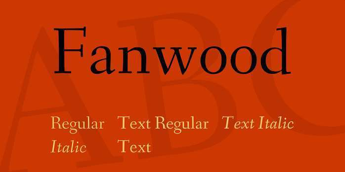 Шрифт Fanwood Text