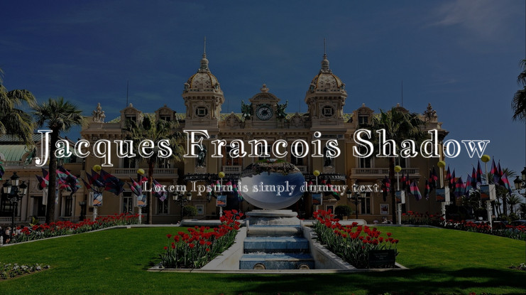 Шрифт Jacques Francois Shadow