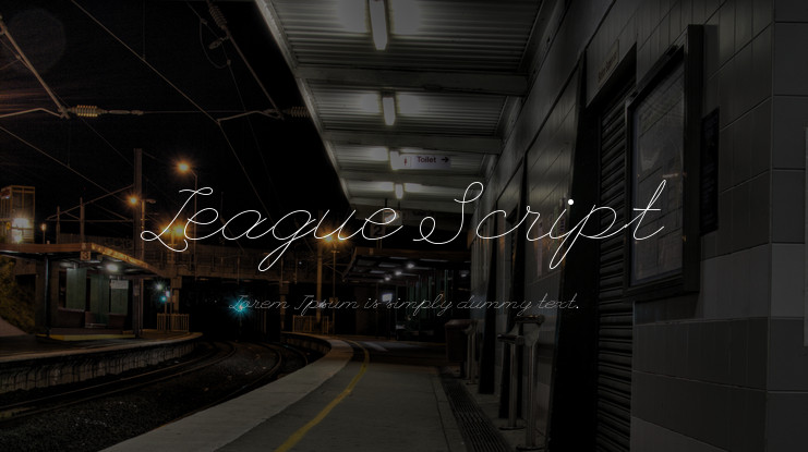 Шрифт League Script