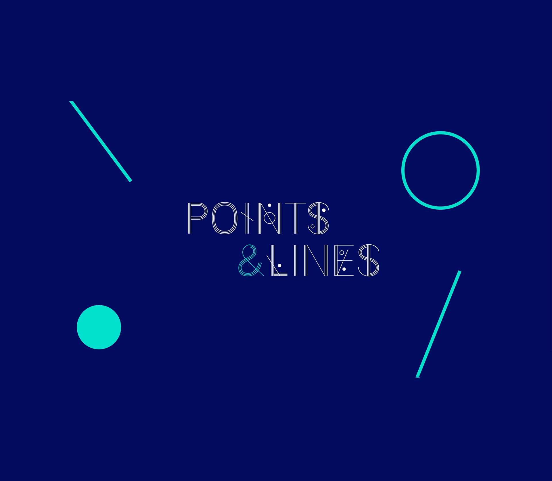 Шрифт Points & Lines