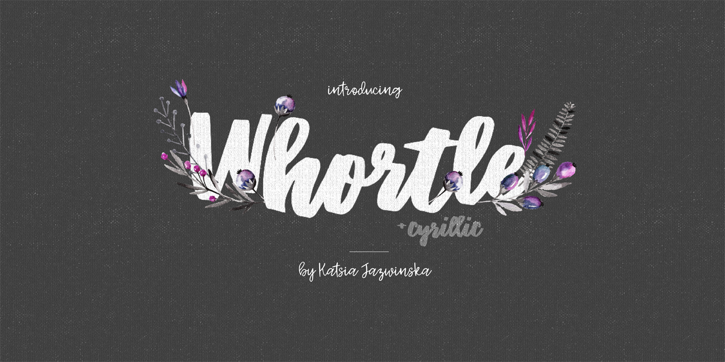 Шрифт Whortle