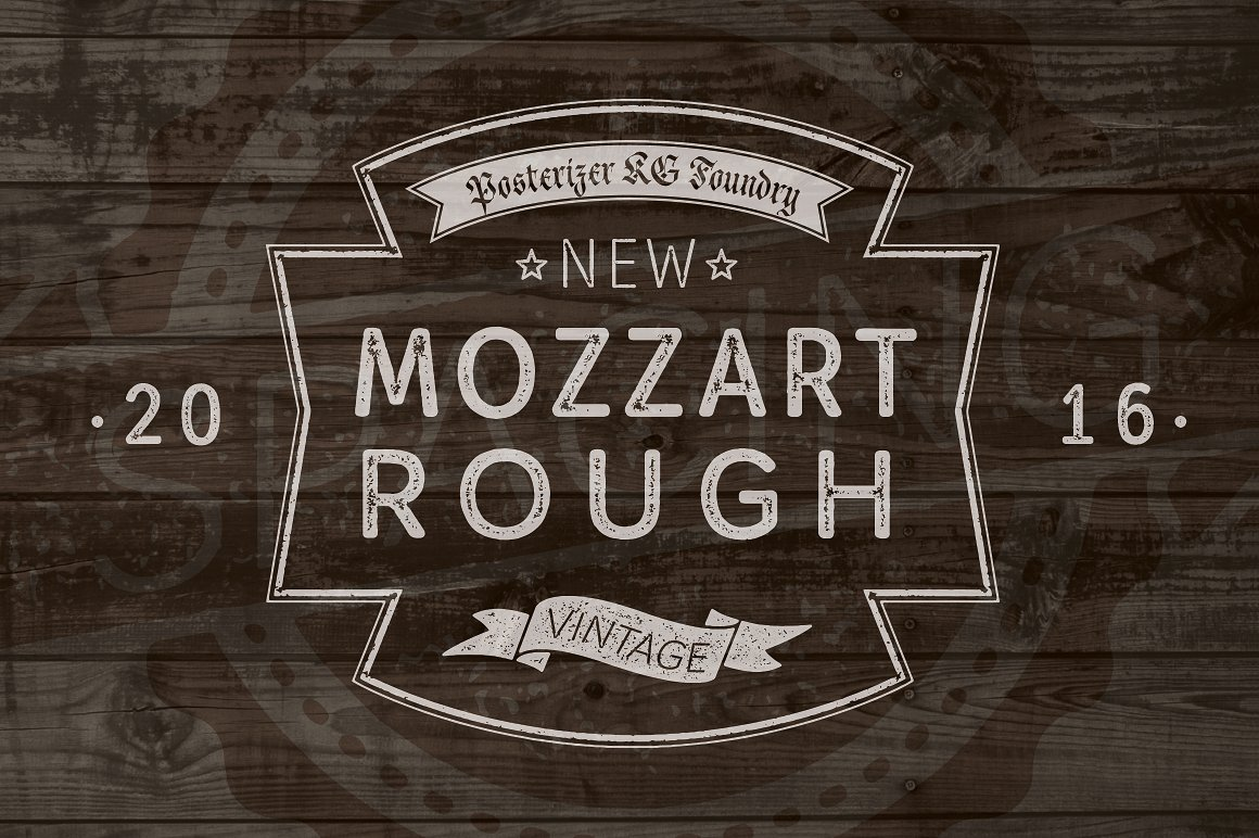 Шрифт Mozzart Rough