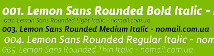 Шрифт Lemon Sans Rounded Condensed