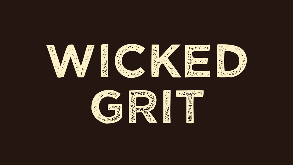 Шрифт Wicked Grit