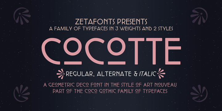 Шрифт Cocotte