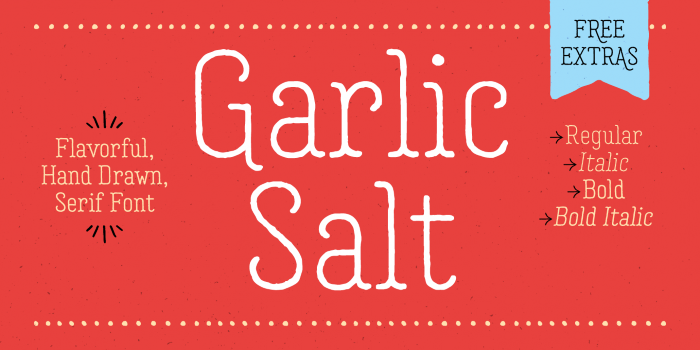 Шрифт Garlic Salt