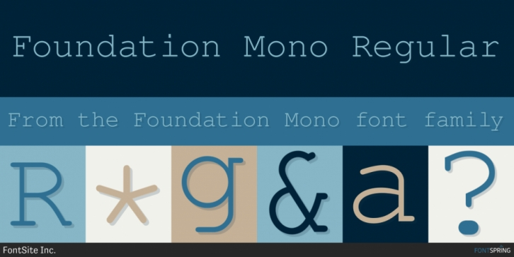 Шрифт Foundation Mono