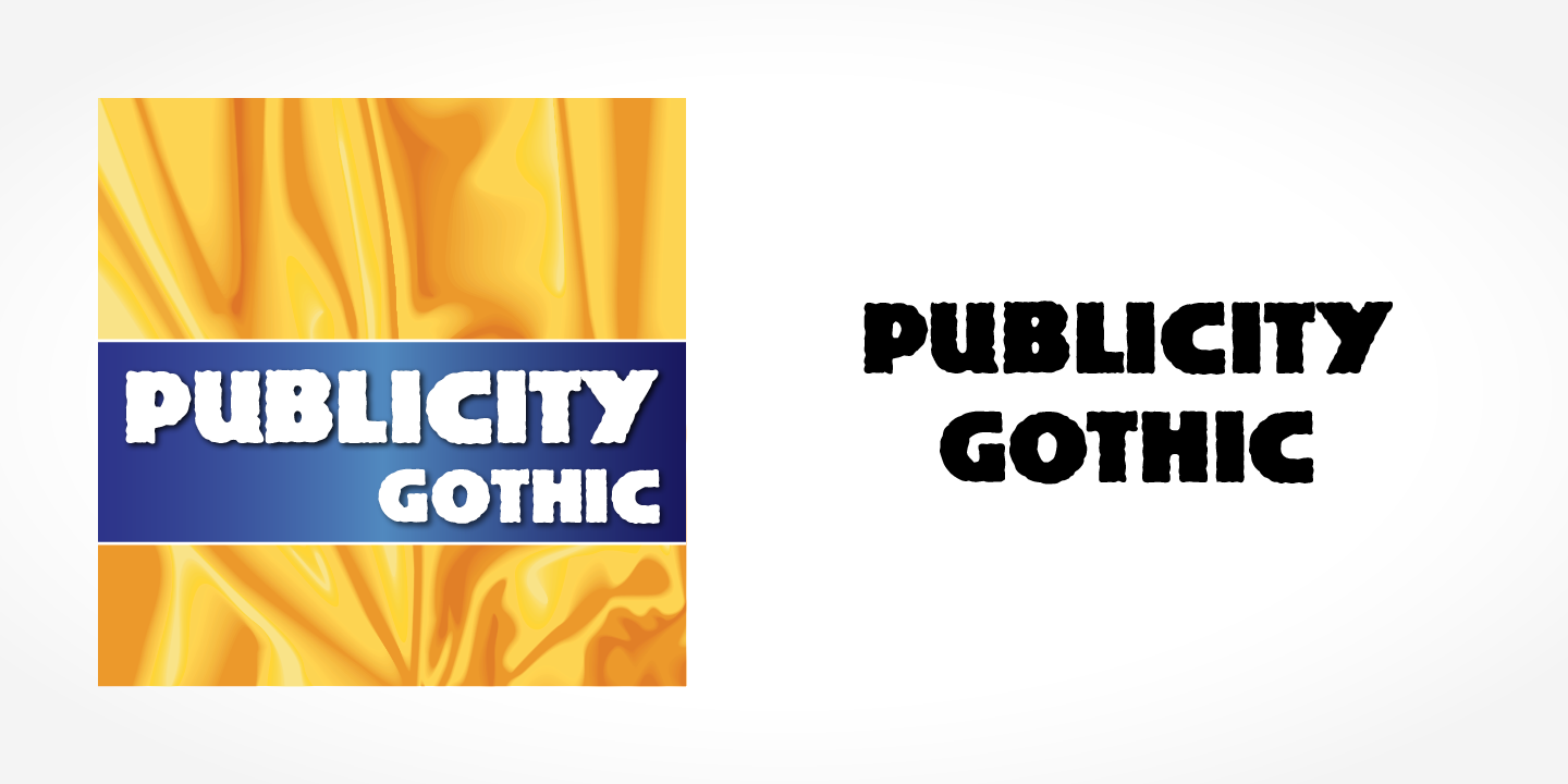 Шрифт Publicity Gothic