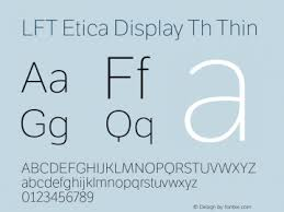 Шрифт LFT Etica Display Th
