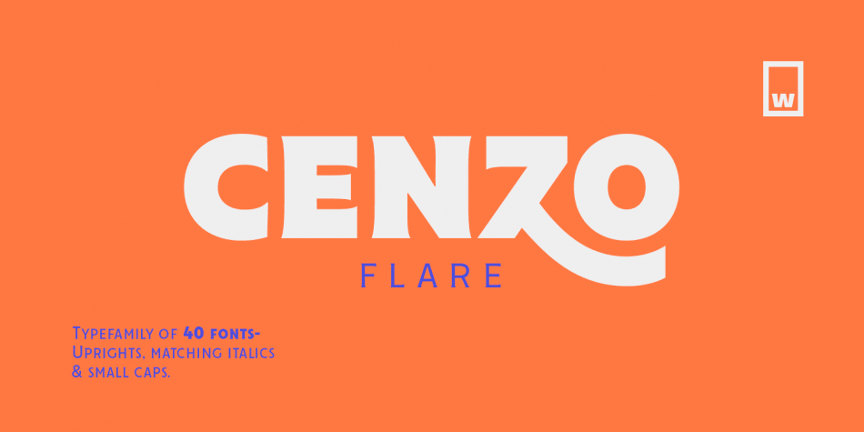 Шрифт Cenzo Flare Cond