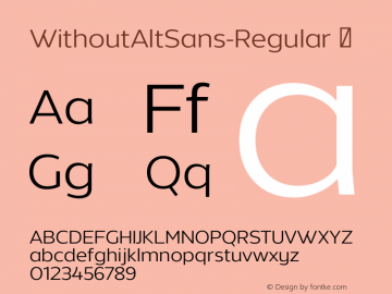Шрифт Without Alt Sans