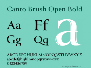 Шрифт Canto Brush Open