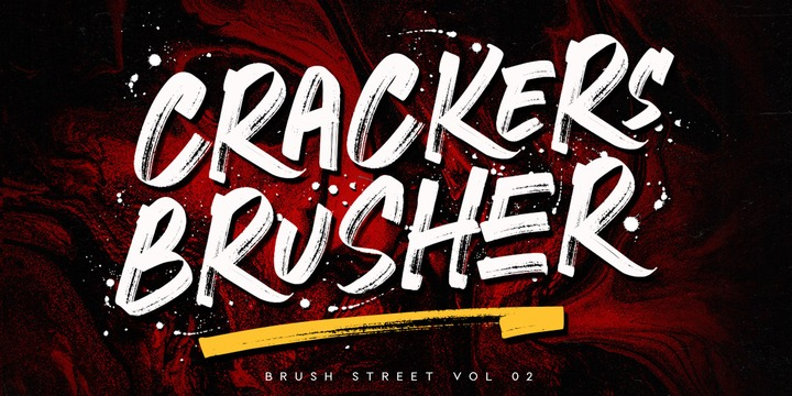 Шрифт Crackers Brusher