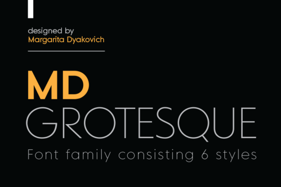Шрифт MD Grotesque