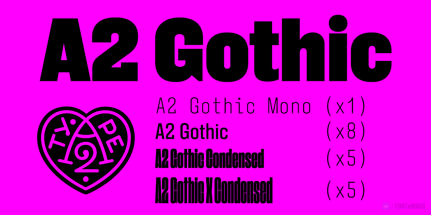 Шрифт A2 Gothic