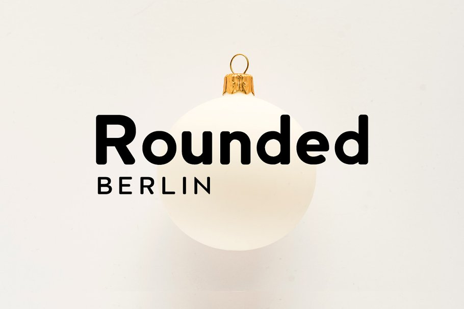 Шрифт Berlin Rounded