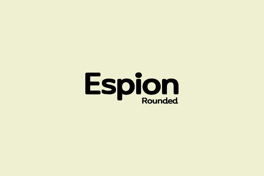 Шрифт Espion Rounded