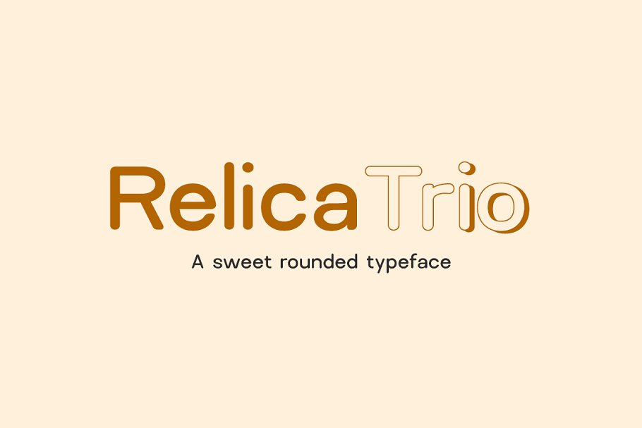 Шрифт Relica Rounded