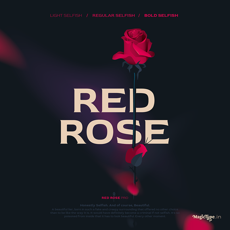 Шрифт Red Rose