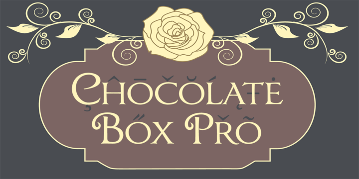 Шрифт Chocolate Box Pro