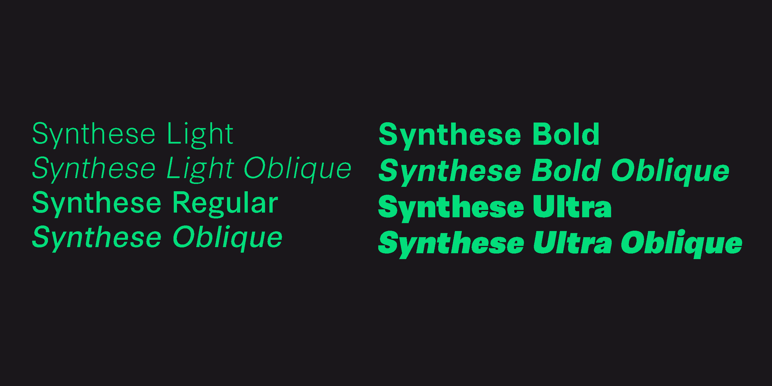 Шрифт Synthese
