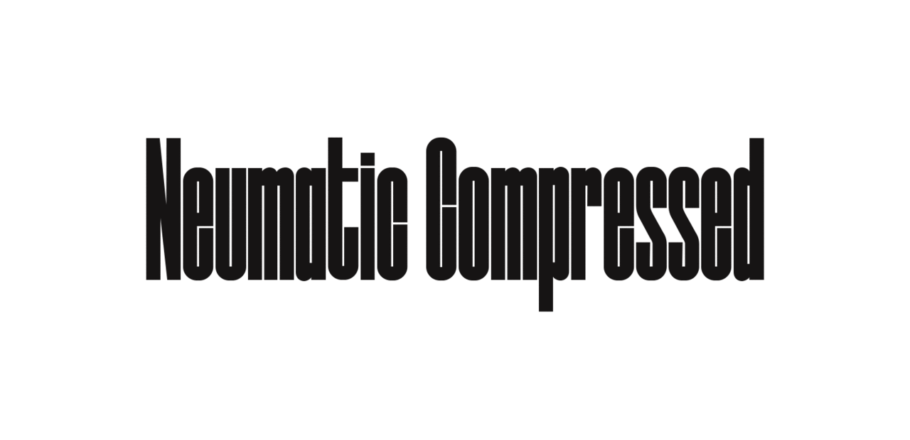 Шрифт Neumatic Compressed