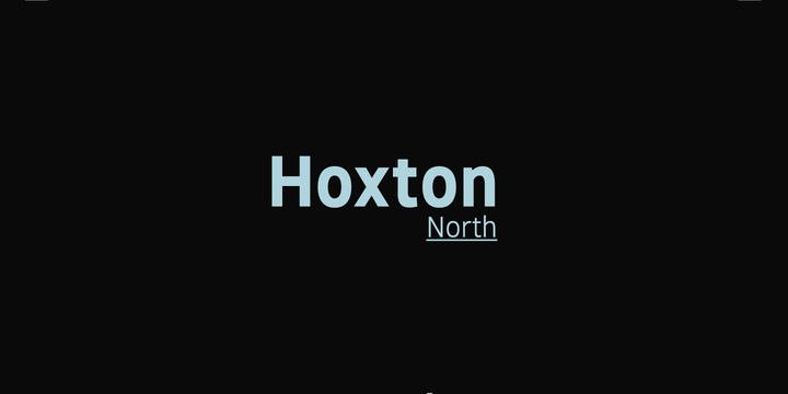 Шрифт Hoxton North