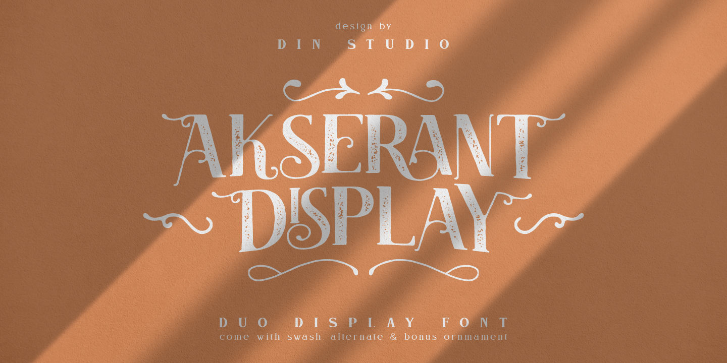 Шрифт Akserant Display