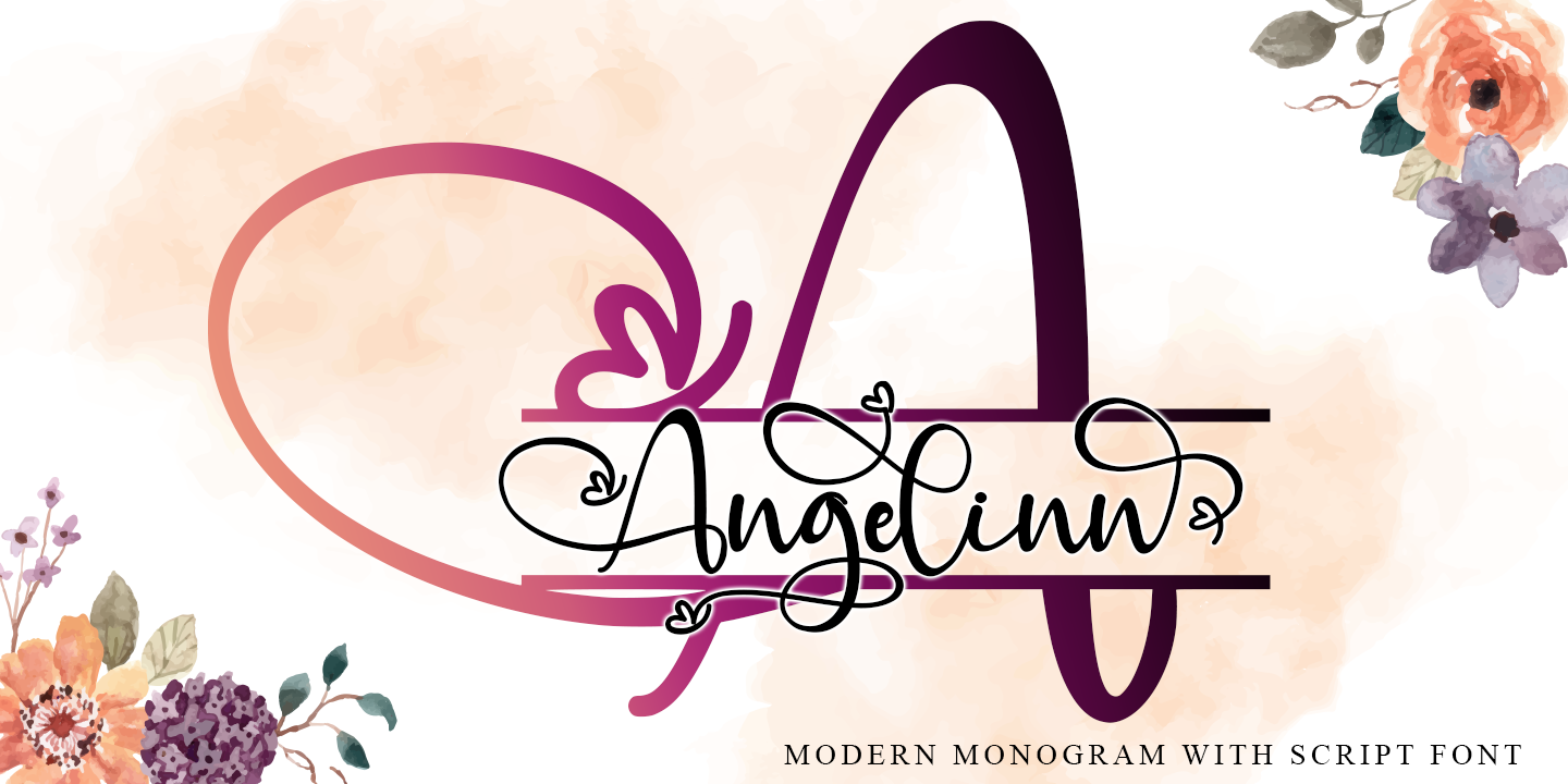 Шрифт Angelynn Monogram