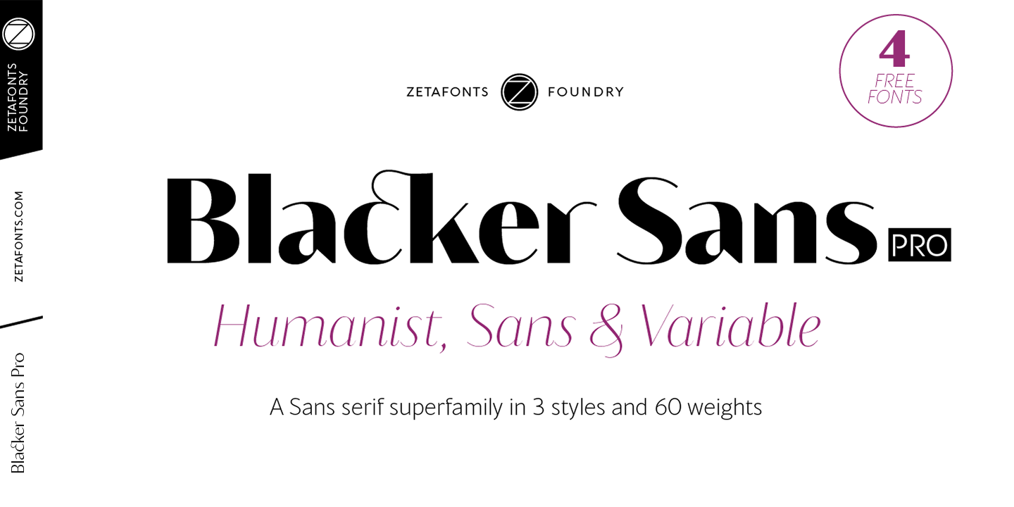 Шрифт Blacker Sans Text