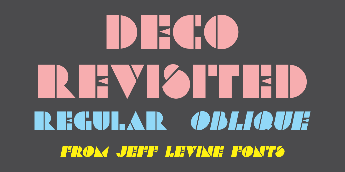 Шрифт Deco Revisited JNL