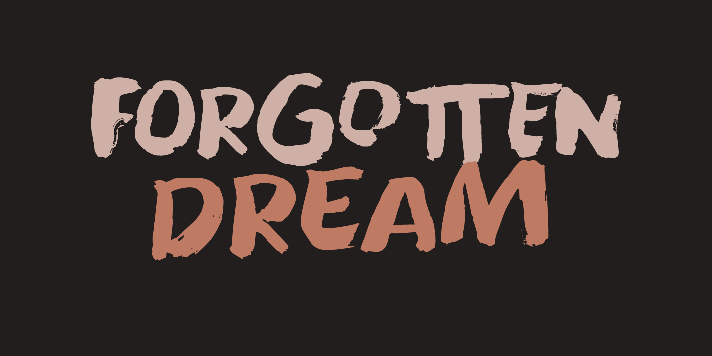 Шрифт Forgotten Dream