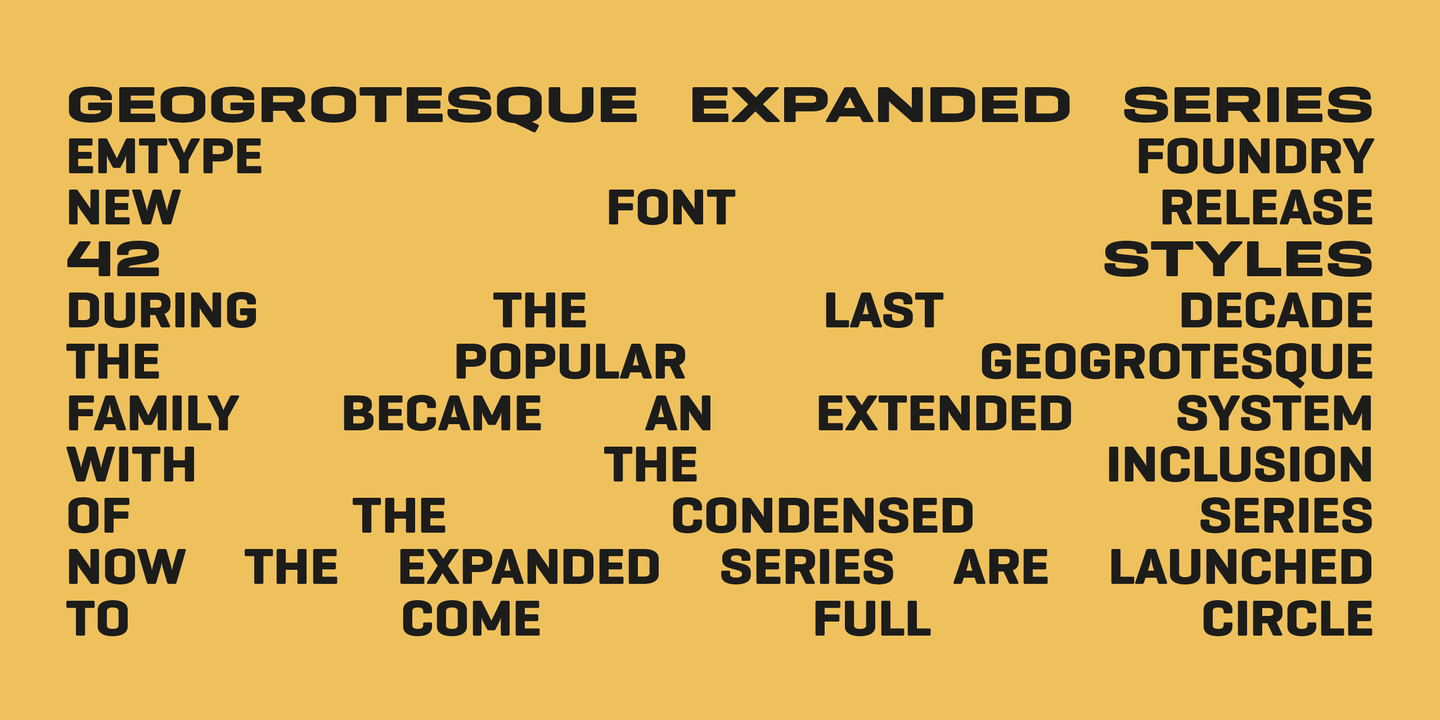 Geogrotesque Wide