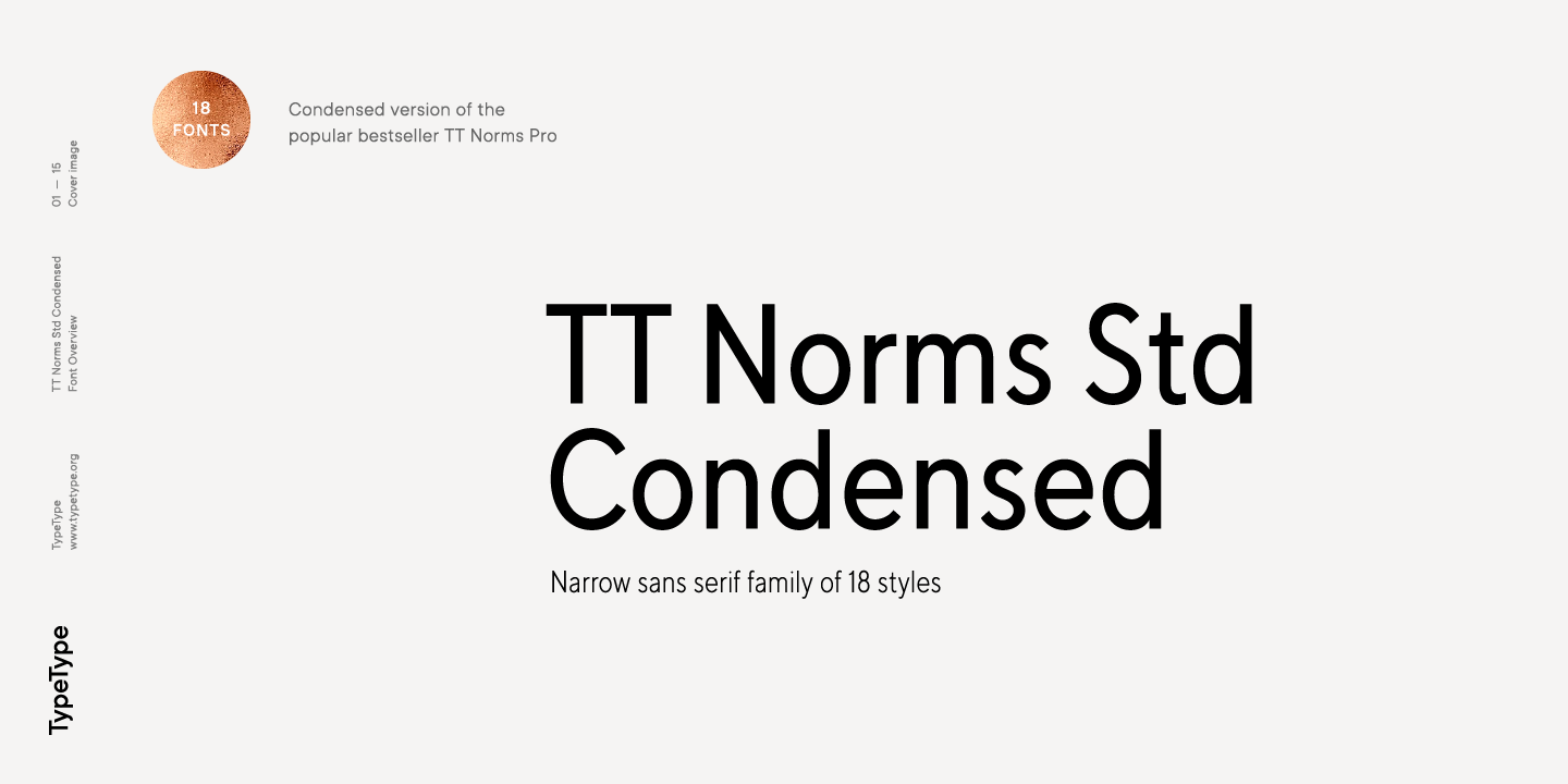 Шрифт TT Norms Std Condensed
